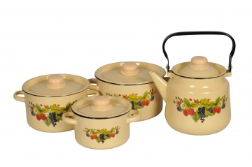 "Set of 4 pcs№142 ""Kompot"", cream, 1с142/1"