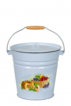 Bucket with lid 12l, gr-bl., Urozhay, 1с28с