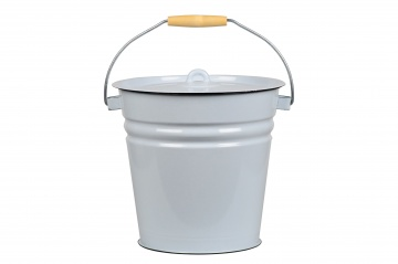 Bucket with lid 12l, gr-bl., 2с28